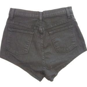 Goodtime Shorts - Goodtime Black High Waist Shorts MEDIUM